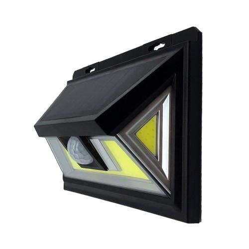 для сада и дачи - LED настенный светильник на солнечной батарее VARGO 10W COB чер. 000000593 - Фото 1