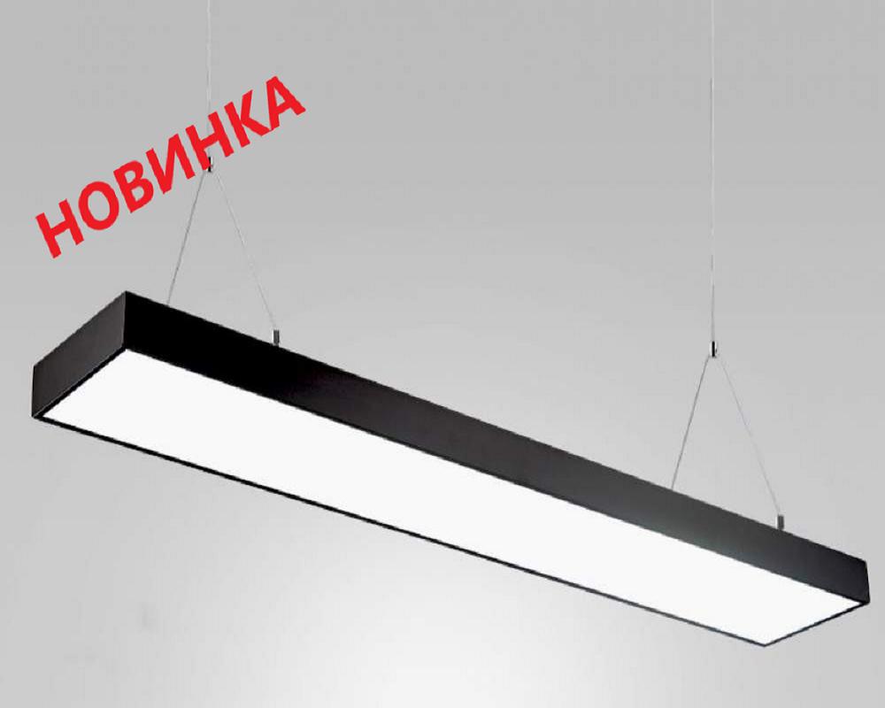 Светодиодное освещение - LED светильник подвесной 48Вт 1200мм 6500К черный на тросах 000000093 - Фото 1