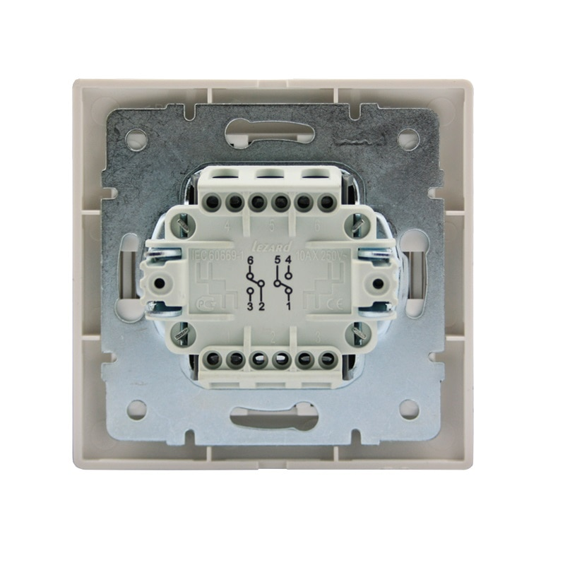 Розетки і вимикачі - Выключатель с подсветкой Lezard серия Mira 000000637 - Фото 3