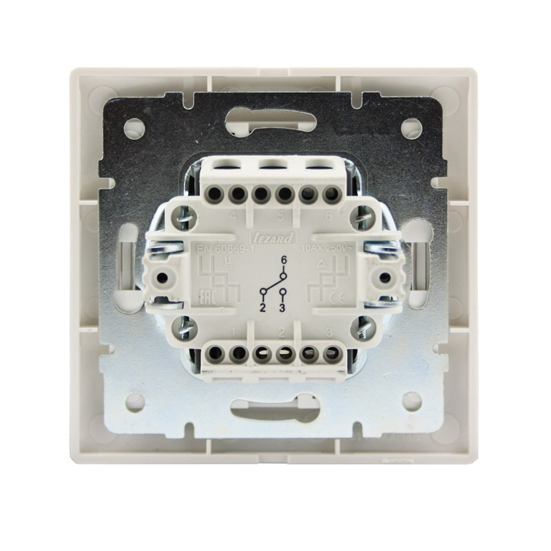 Розетки і вимикачі - Выключатель проходной с подсветкой Lezard серия Mira 000000641 - Фото 3