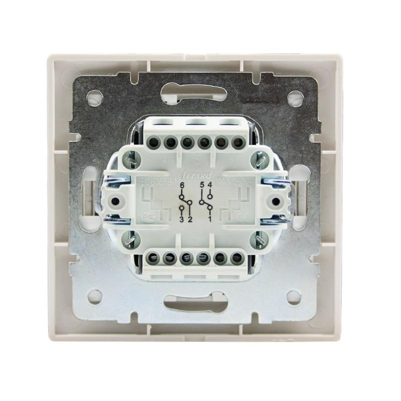Розетки і вимикачі - Выключатель проходной двойной Lezard серия Mira 000000634 - Фото 3