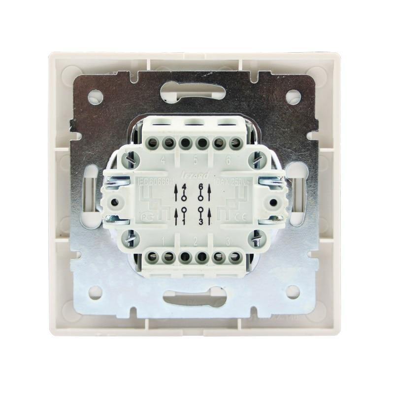 Розетки і вимикачі - Выключатель промежуточный Lezard серия Mira 000000635 - Фото 3