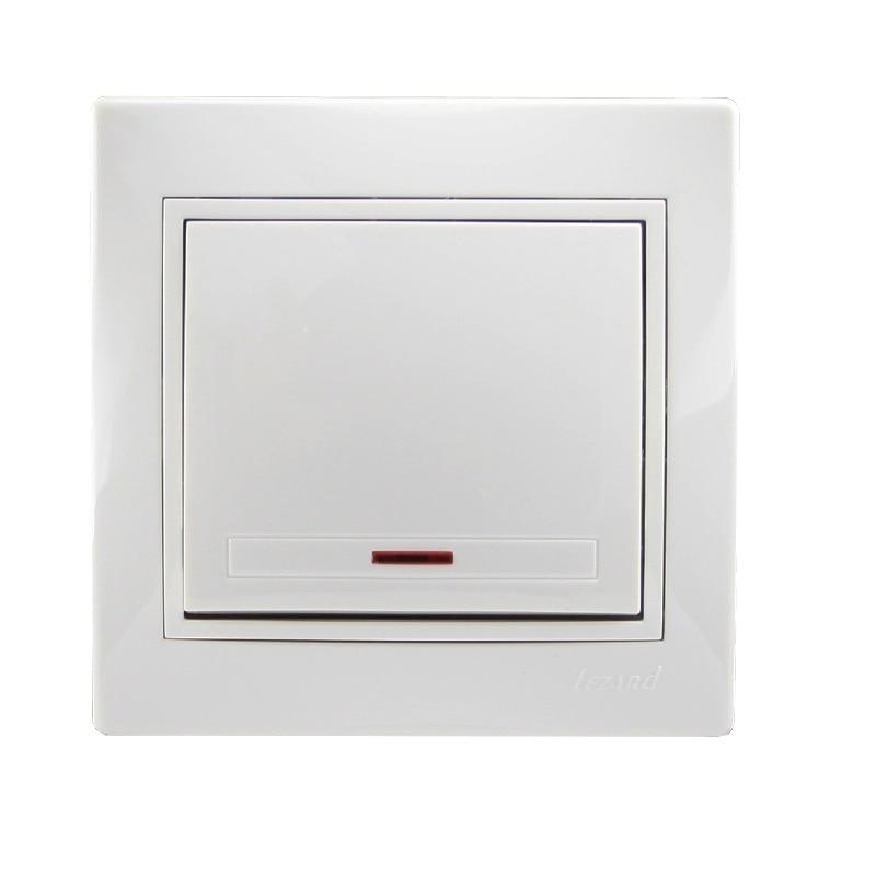 Розетки і вимикачі - Выключатель с подсветкой Lezard серия Mira 000000637 - Фото 1