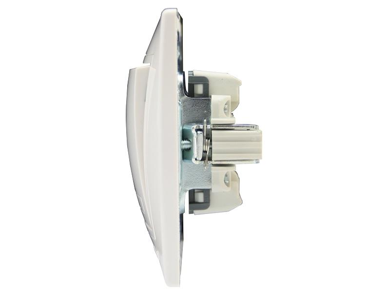 Розетки і вимикачі - Выключатель двойной с подсветкой Lezard серия Mira 000000638 - Фото 2