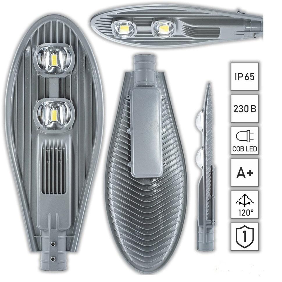 Уличные LED светильники - Фонарь уличный светодиодный 100вт ECO 6500K 000000262 - Фото 1