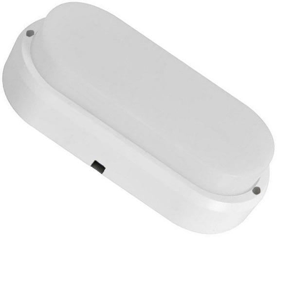 Пылевлагозащищенные светильники и корпуса IP65 - Светильник с датчиком движения 12W 6500K P65 овал 000002315 - Фото 1