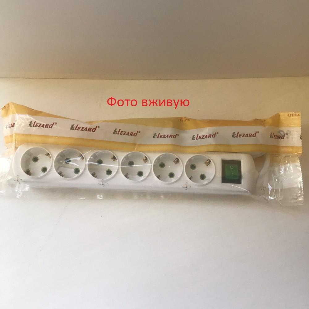 Удлинители, сетевые фильтры - Удлинитель Lezard с/з 6 входов 5 метров с выключателем 000001213 - Фото 2