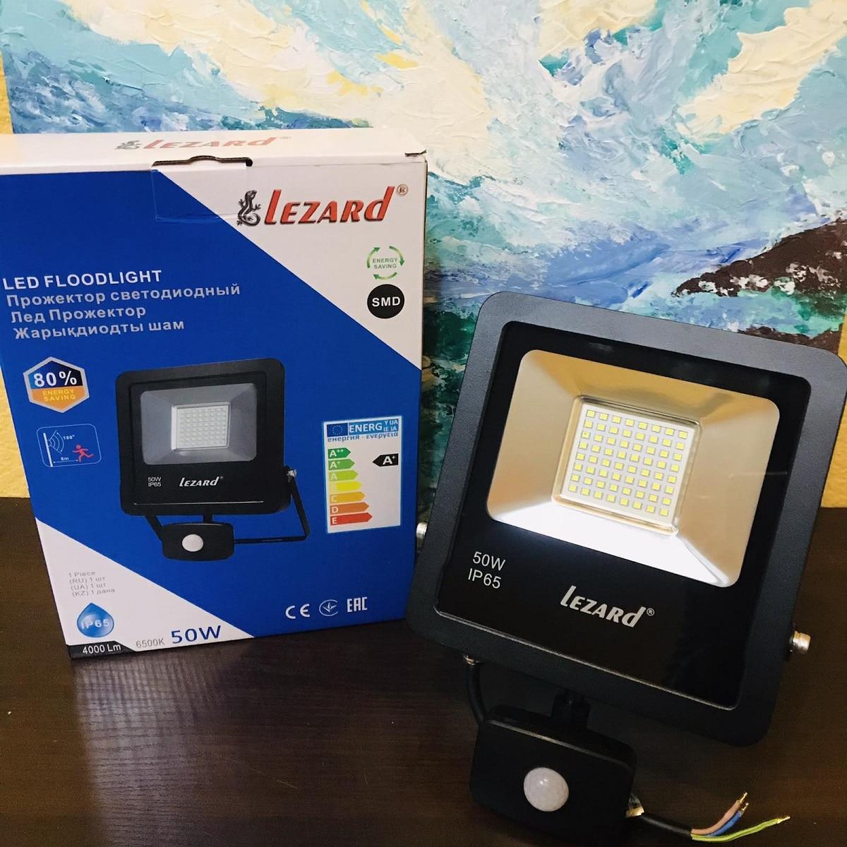 Светодиодное освещение - Прожектор с датчиком движения 50Вт Lezard 000001133 - Фото 1