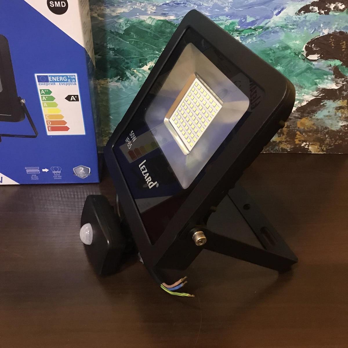 Светодиодное освещение - Прожектор с датчиком движения 50Вт Lezard 000001133 - Фото 3
