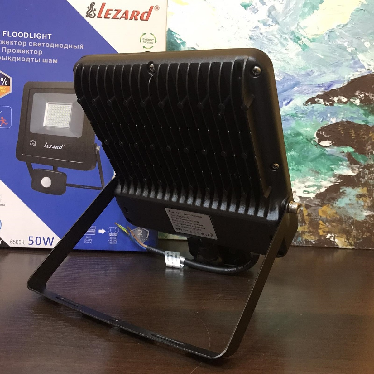 Светодиодное освещение - Прожектор с датчиком движения 50Вт Lezard 000001133 - Фото 4