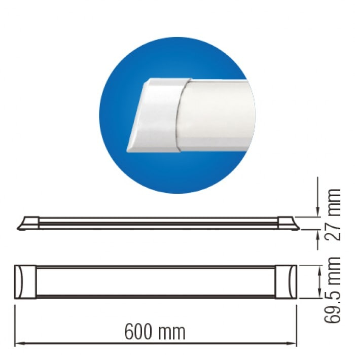 Светодиодное освещение - Светодиодный светильник TETRA-18 18W 4200K 000001224 - Фото 2