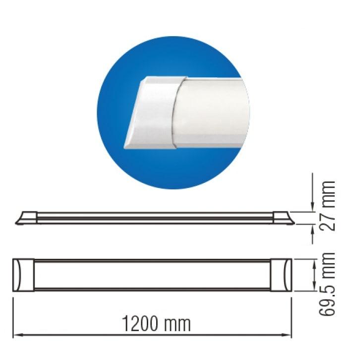Светодиодное освещение - Светодиодный светильник TETRA-40 40W 6400K  000001228 - Фото 2