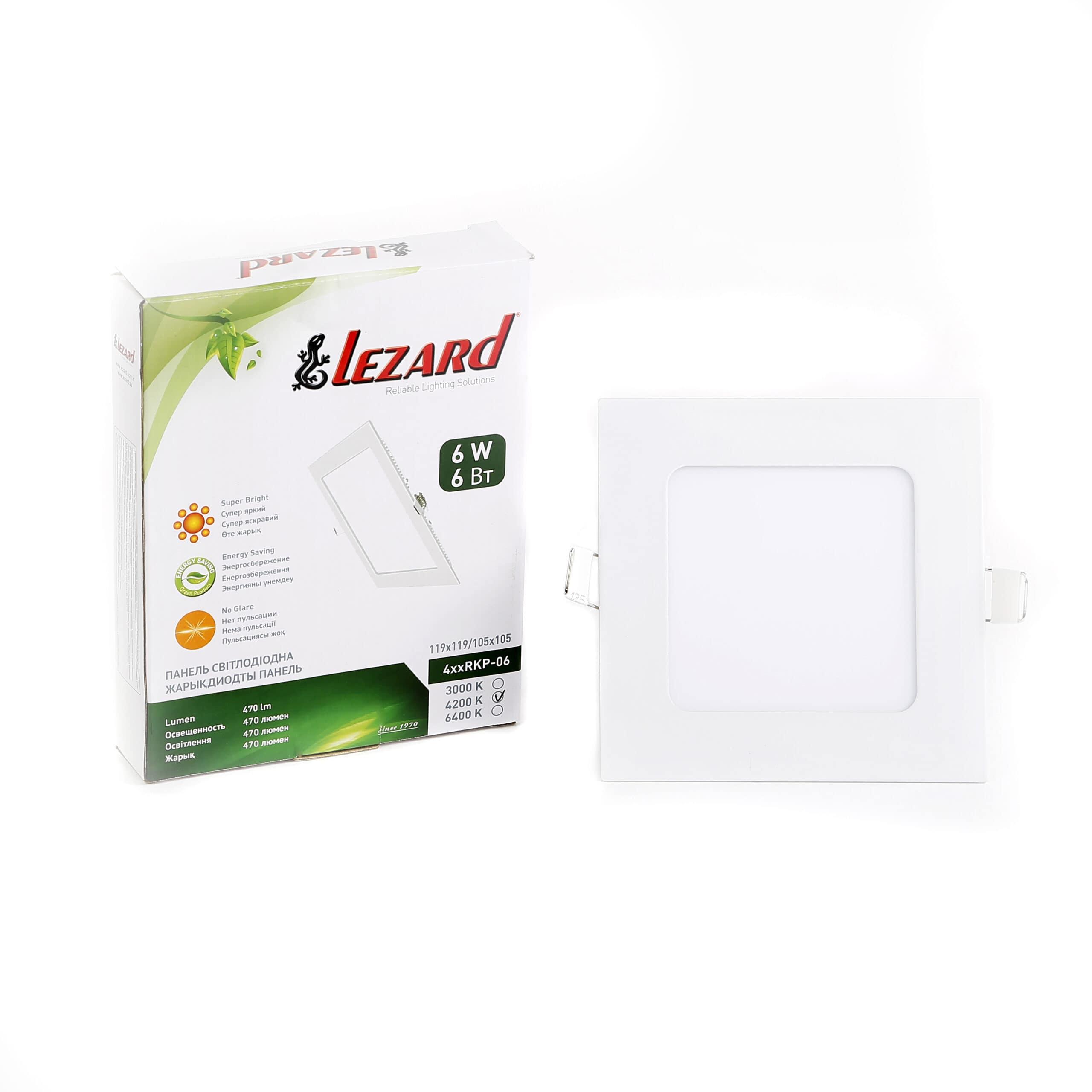 Даунлайты - Светильник Downlight внутренний 9Вт 4200K квадрат Lezard 000001089 - Фото 2