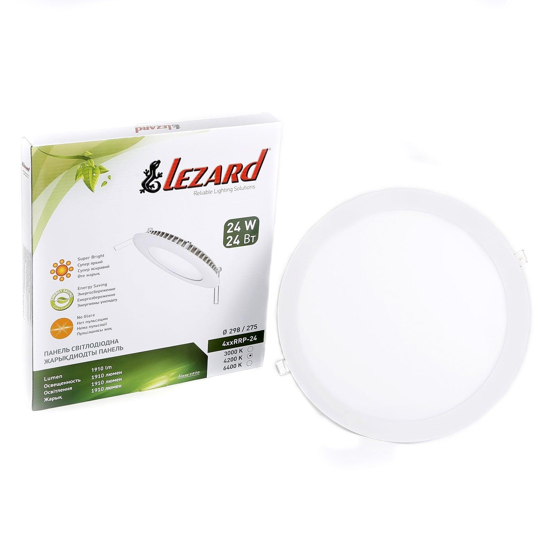 Даунлайты - Даунлайт светильник внутренний 24Вт 4200K круглый Lezard 000001000 - Фото 2