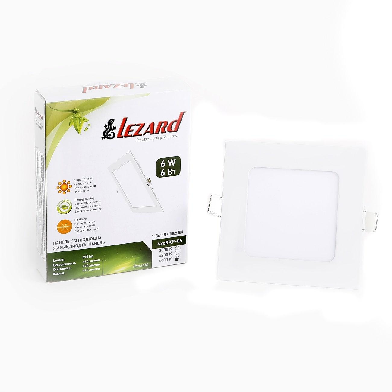 Даунлайты - Светильник Downlight внутренний 6Вт 6400K квадрат Lezard 000001108 - Фото 2