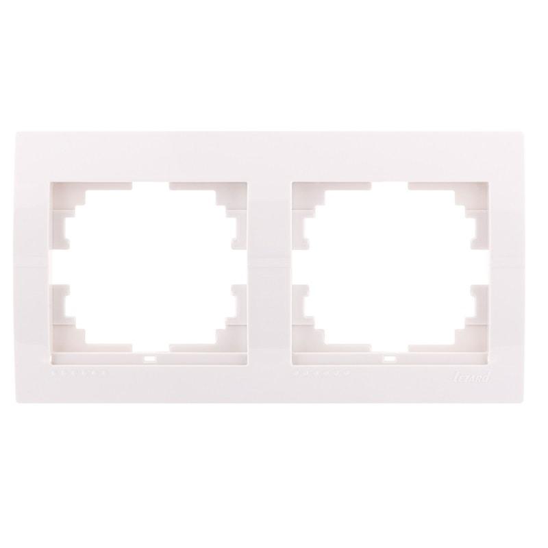 Розетки і вимикачі - Рамка двойная горизонтальная Lezard серия Mira 000000675 - Фото 1