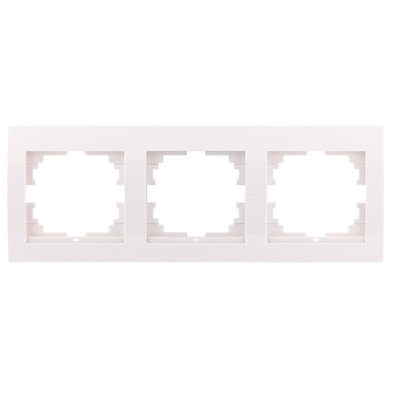 Розетки і вимикачі - Рамка тройная горизонтальная Lezard серия Mira 000000676 - Фото 1