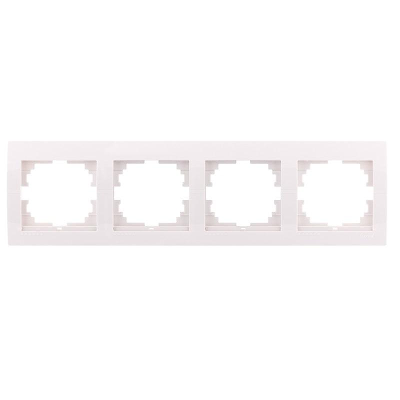 Розетки і вимикачі - Рамка четверная горизонтальная Lezard серия Mira 000000677 - Фото 1