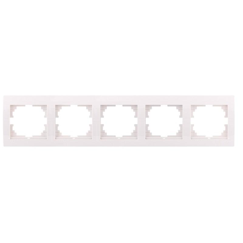 Розетки і вимикачі - Рамка пятерная горизонтальная Lezard серия Mira 000000678 - Фото 1