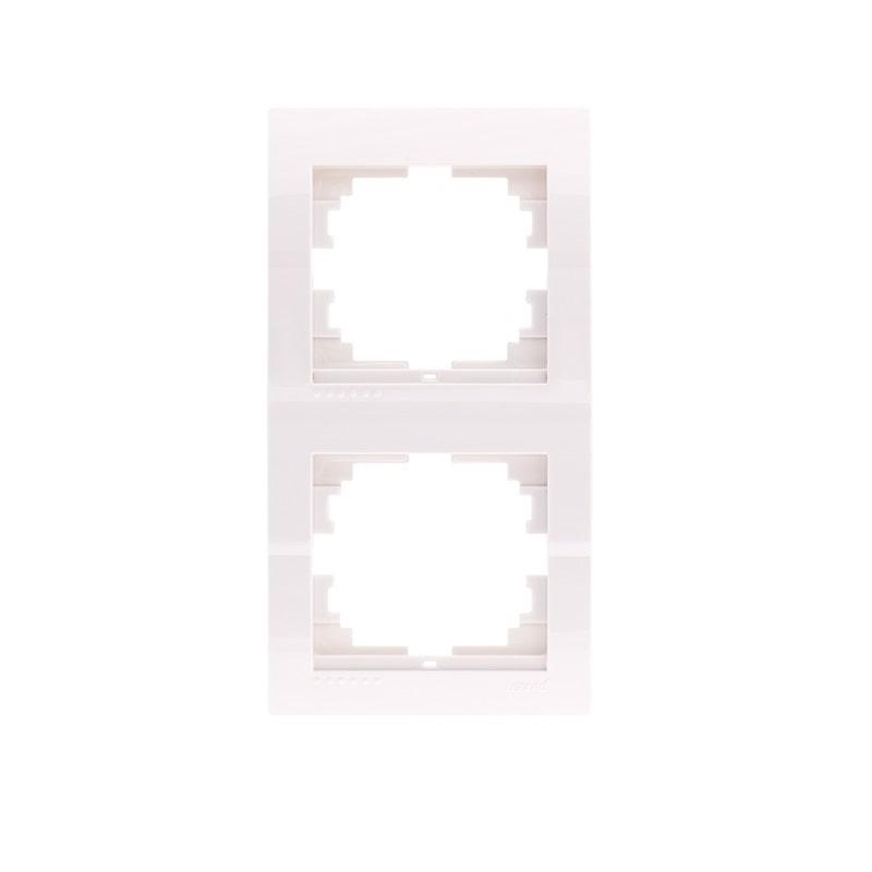 Розетки і вимикачі - Рамка двойная вертикальная Lezard серия Mira 000000679 - Фото 1