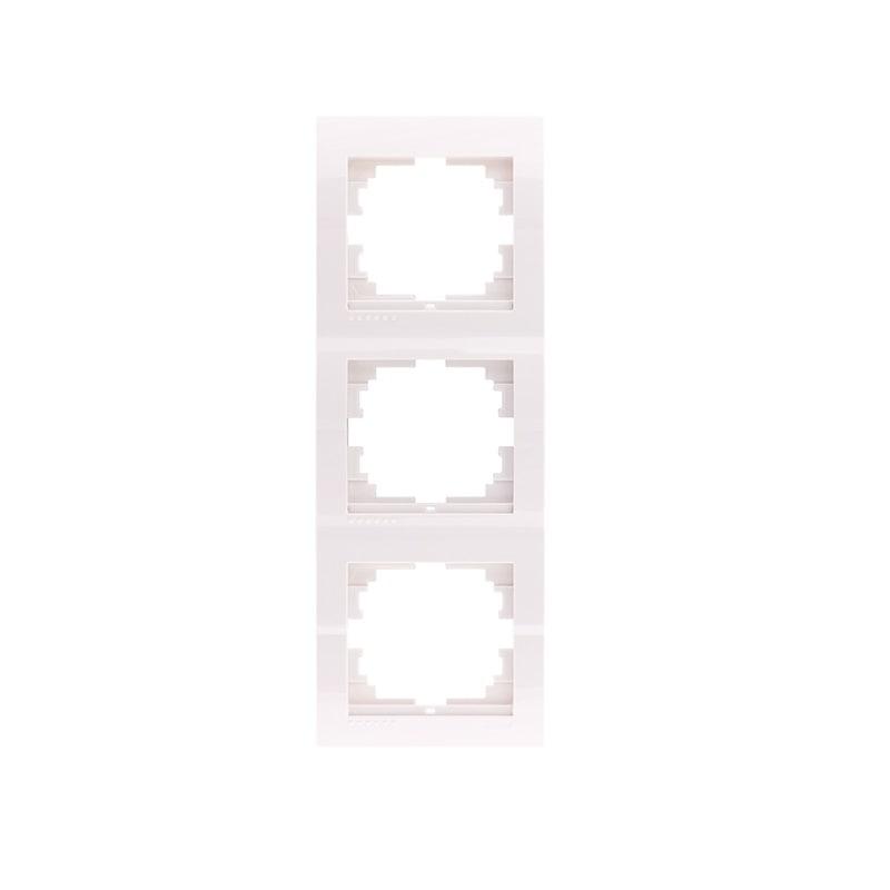 Розетки і вимикачі - Рамка тройная вертикальная Lezard серия Mira 000000680 - Фото 1