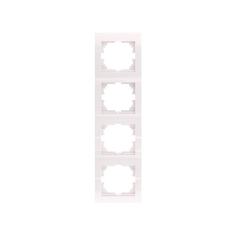 Розетки і вимикачі - Рамка четверная вертикальная Lezard серия Mira 000000717 - Фото 1