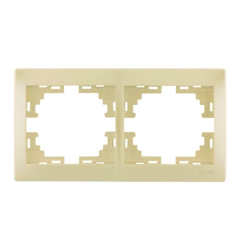 Розетки і вимикачі - Рамка двойная горизонтальная Lezard серия Mira 000000711 - Фото 1