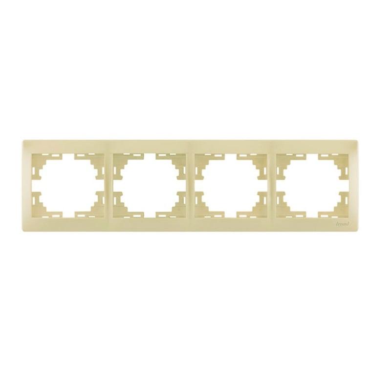 Розетки і вимикачі - Рамка четверная горизонтальная Lezard серия Mira 000000713 - Фото 1