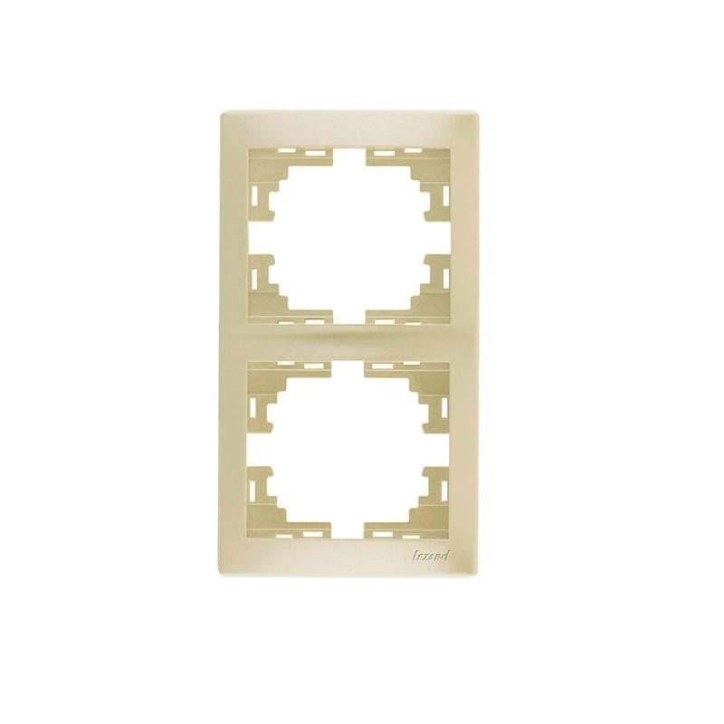 Розетки і вимикачі - Рамка двойная вертикальная Lezard серия Mira 000000715 - Фото 1