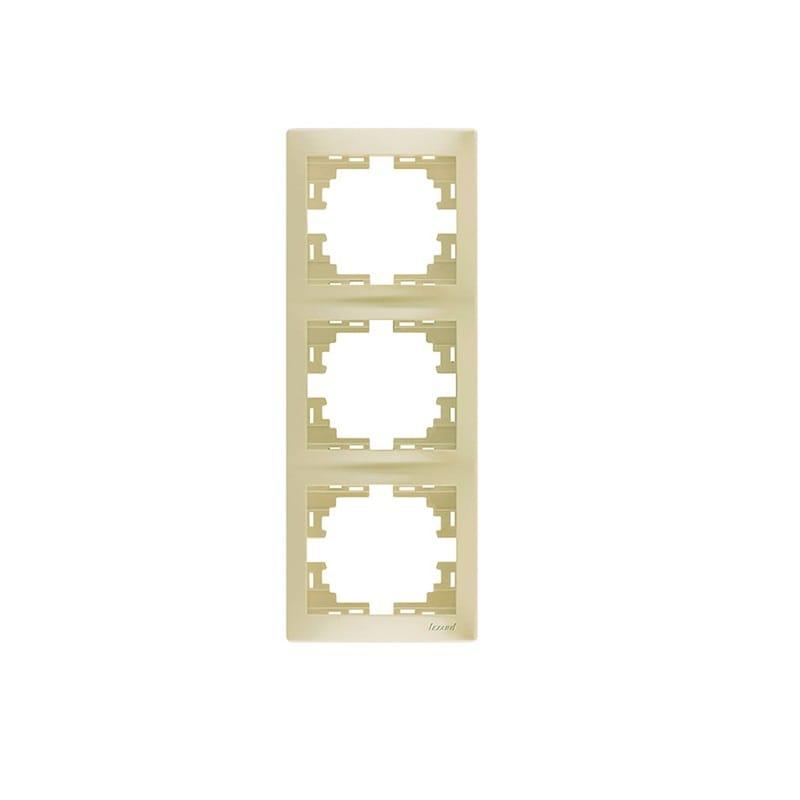 Розетки і вимикачі - Рамка тройная вертикальная Lezard серия Mira 000000716 - Фото 1