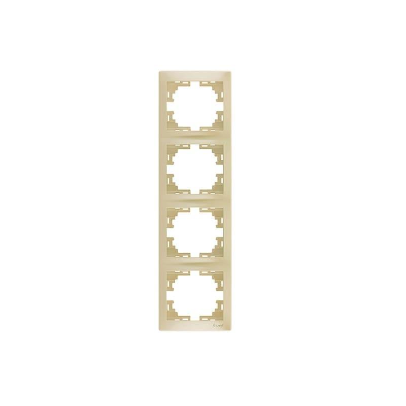 Розетки і вимикачі - Рамка четверная вертикальная Lezard серия Mira 000000718 - Фото 1
