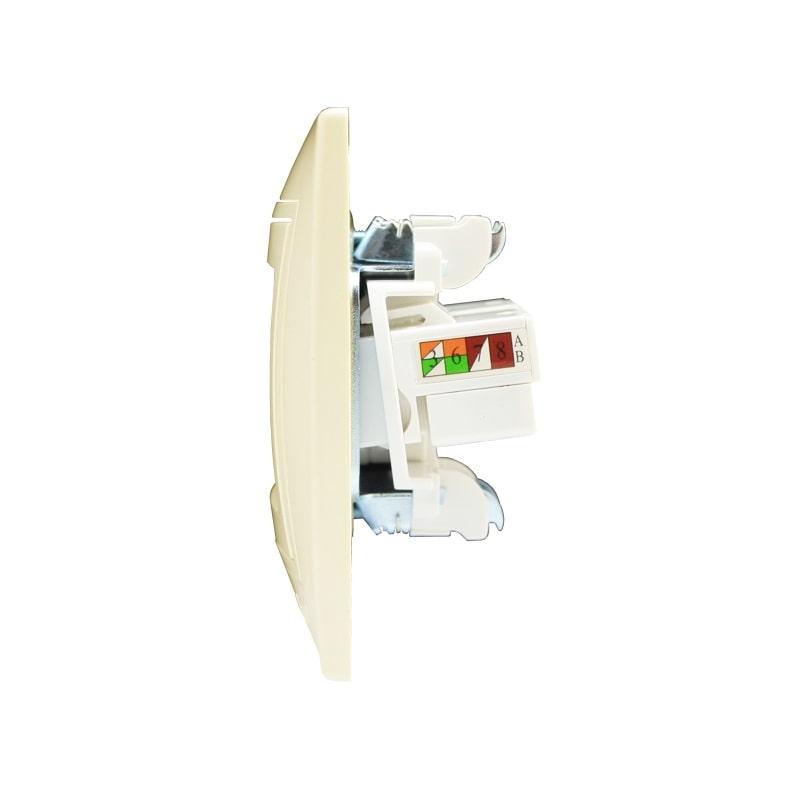 Розетки і вимикачі - Розетка компьютерная двойная Lezard серия Mira 000000708 - Фото 2