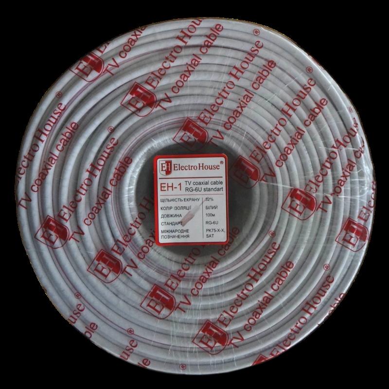 Кабель TV - Телевизионный (коаксиальный) кабель белый 000000804 - Фото 1