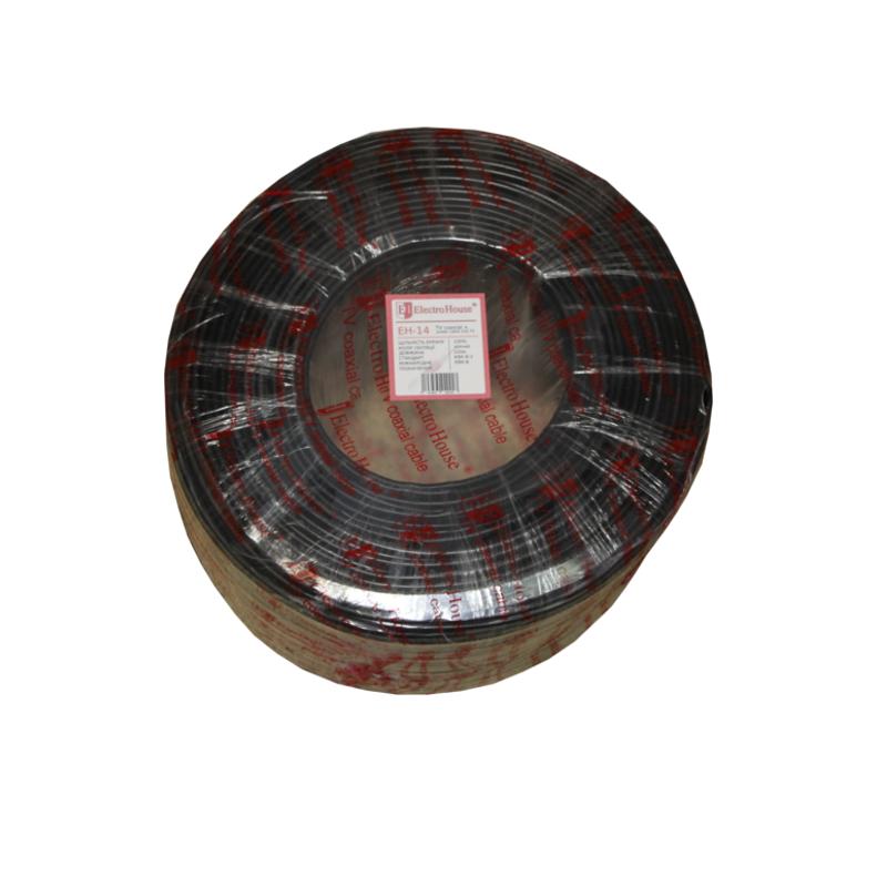 Кабель TV - Телевизионный (коаксиальный) кабель с питанием гермет. фольга черный ПВХ 000000811 - Фото 1