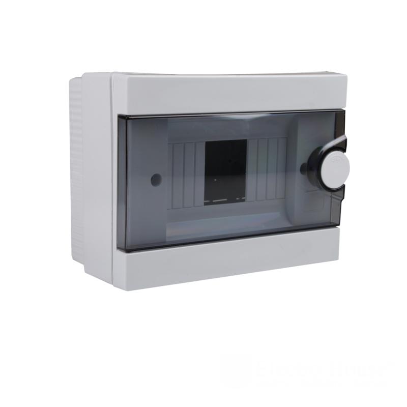 Модульные электрощиты - Бокс пластиковый модульный для наружной установки на 2-6 модулей 000000933 - Фото 1
