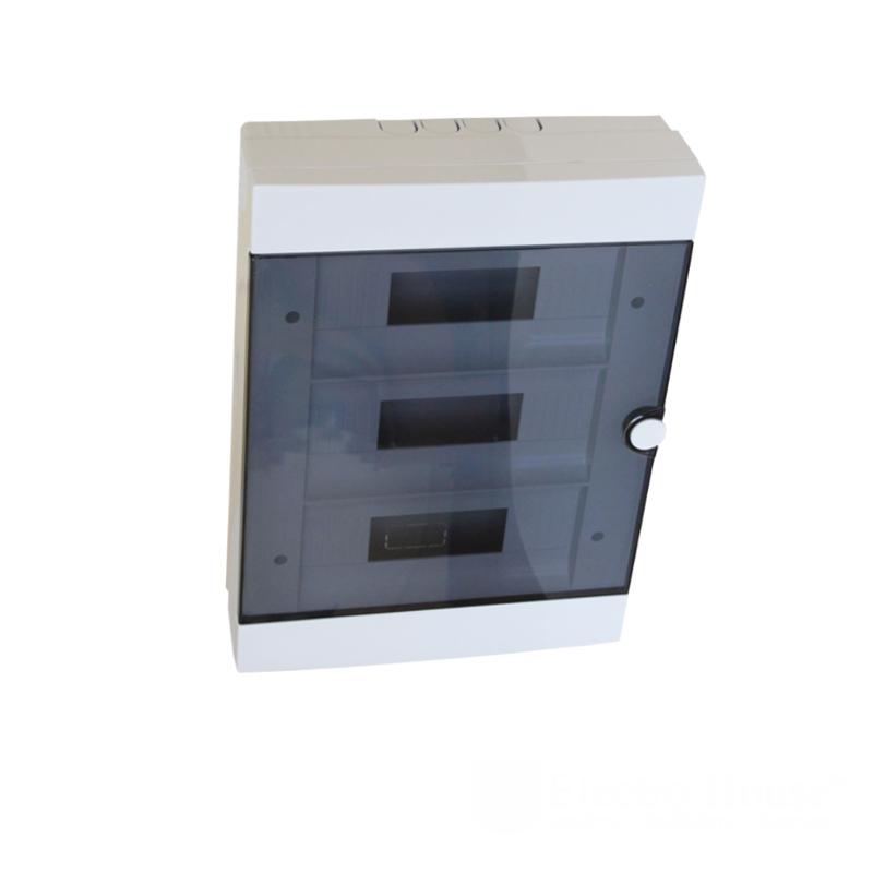 Боксы и шины соединительные - Бокс пластиковый модульный для наружной установки на 36 модулей 000000938 - Фото 1