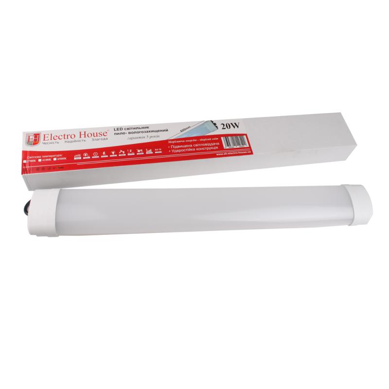 Пылевлагозащищенные светильники и корпуса IP65 - LED светильник ПВЗ 20W 600мм 6500K IP65 000000902 - Фото 1