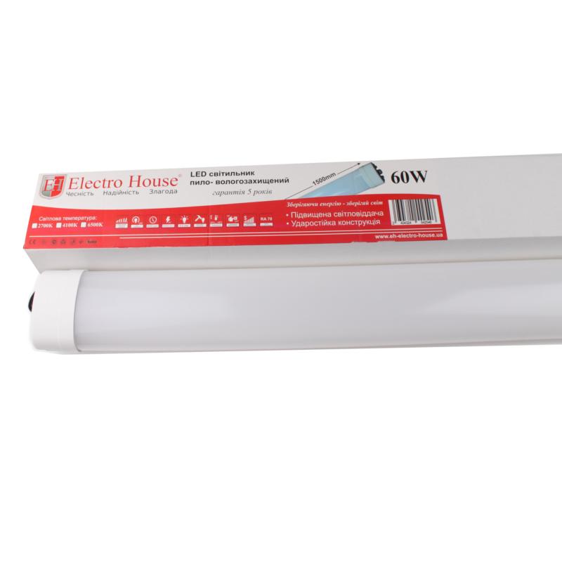 Пылевлагозащищенные светильники и корпуса IP65 - LED светильник ПВЗ 60W 1500мм 6500K IP65 000000905 - Фото 1