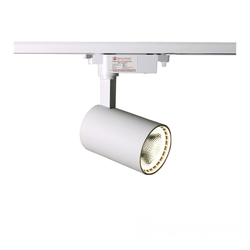 Лед трековое освещение - LED светильник трековый 20W белый 4100K 1800Lm 000000878 - Фото 1