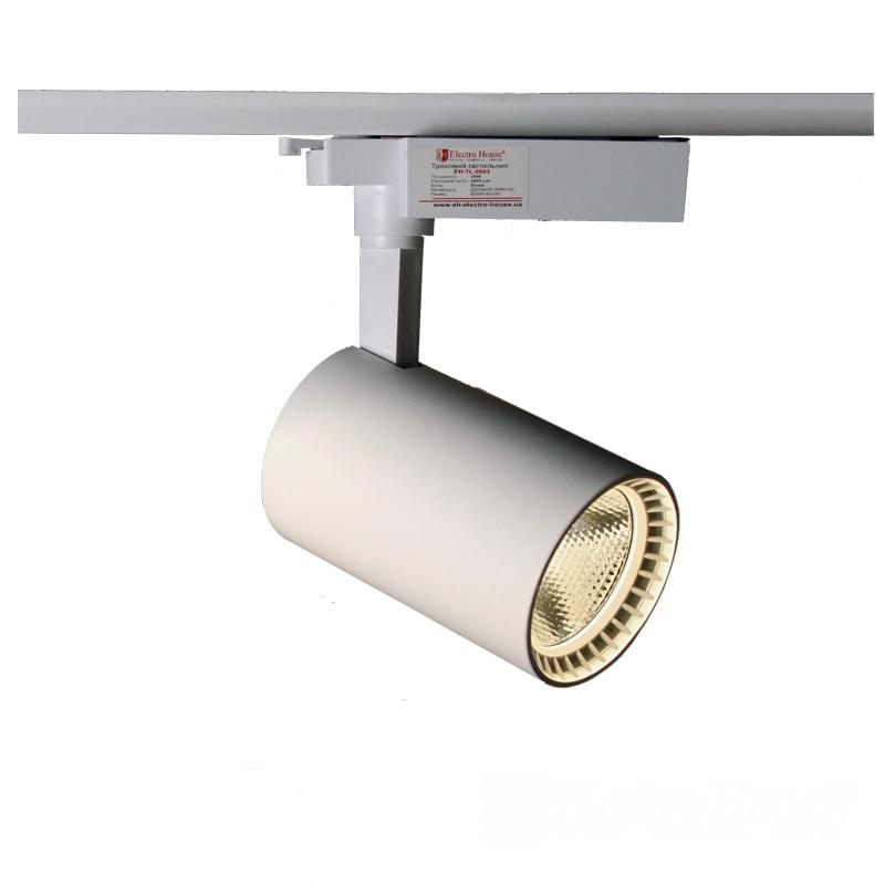 Лед трековое освещение - LED светильник трековый 30W белый 4100K 2700Lm 000000879 - Фото 1