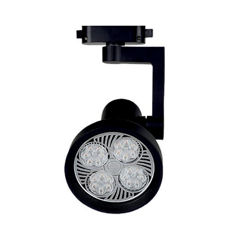 Лед трековое освещение - LED светильник трековый 25W черный 4100K 2000Lm 000000882 - Фото 1