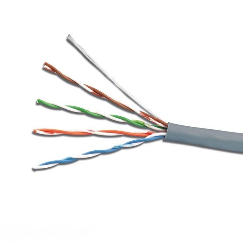 Витая пара - Интернет кабель UTP серый (внутр. монтаж) 000001381 - Фото 1