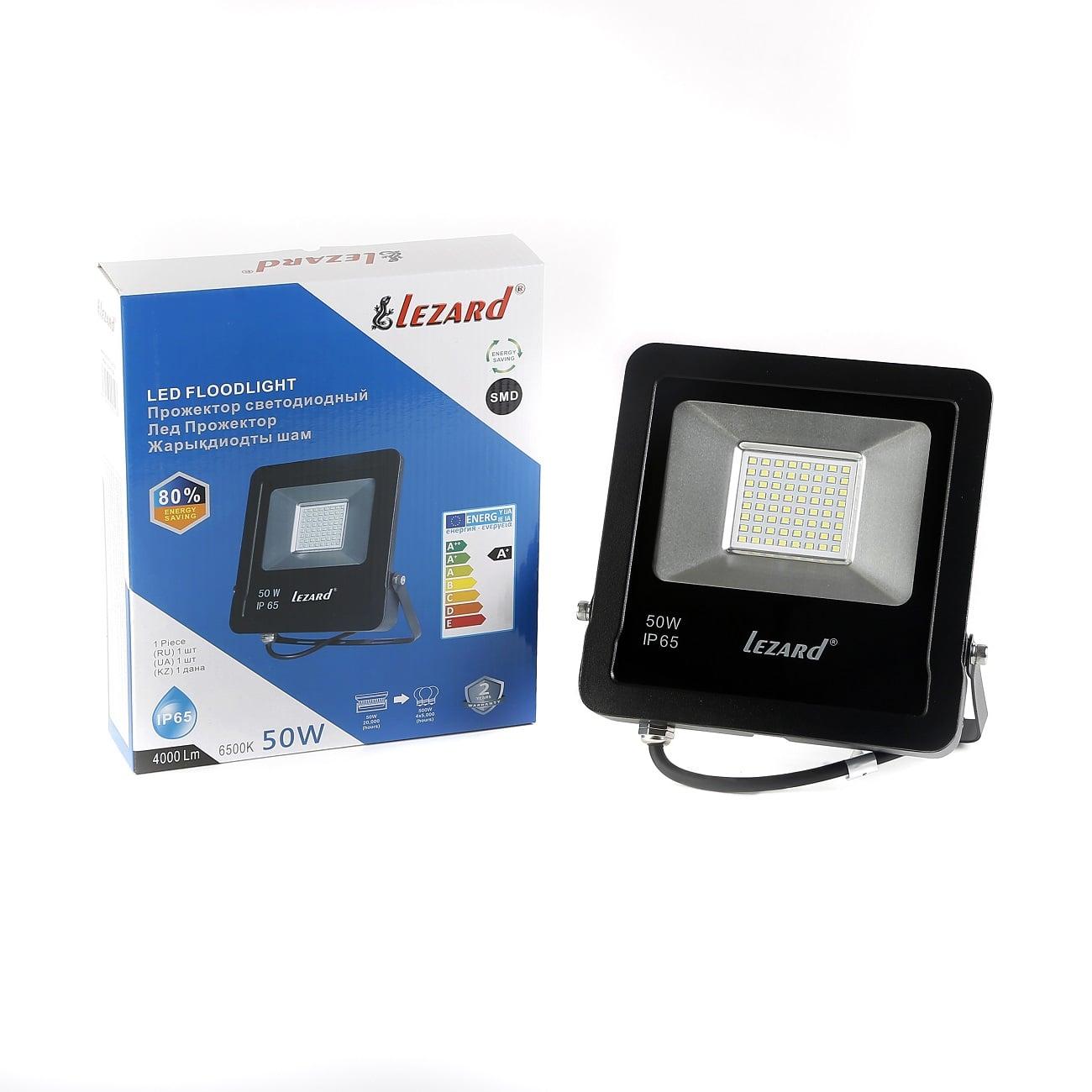 Светодиодное освещение - Прожектор светодиодный 50Вт Lezard 000001137 - Фото 1