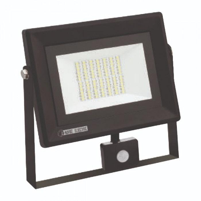 Светодиодное освещение - Прожектор светодиодный с датчиком PARS/S-50 50W 6400K 000001009 - Фото 1