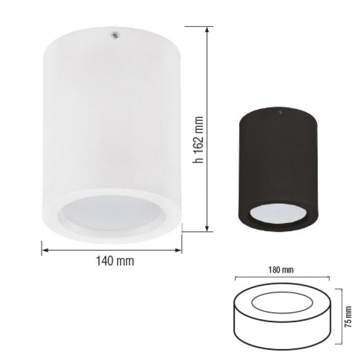 Даунлайты - Светодиодный светильник SANDRA-10/XL  черный 000001168 - Фото 2
