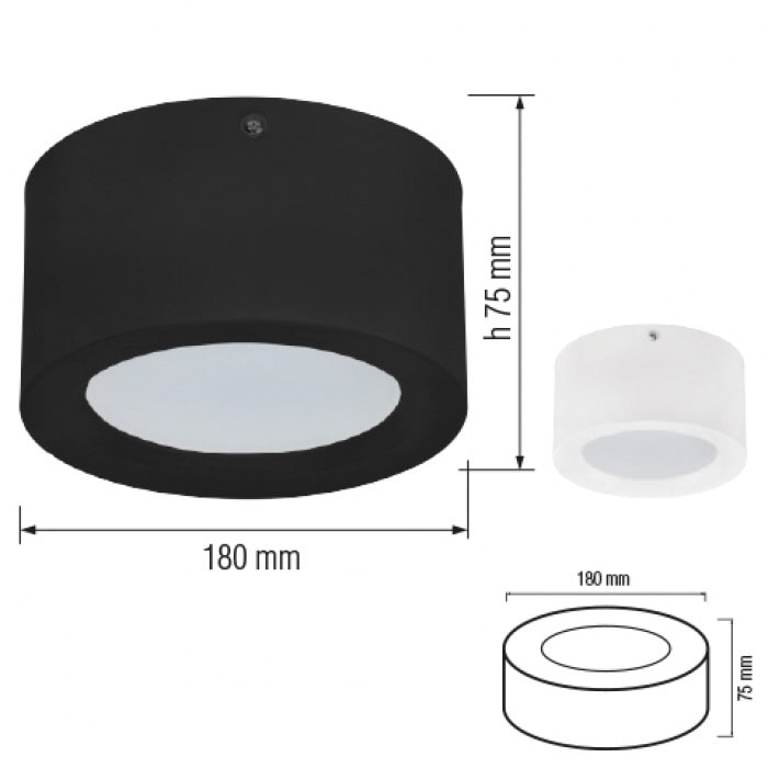 Даунлайты - Светодиодный светильник SANDRA-15 15W  белый 000001163 - Фото 2
