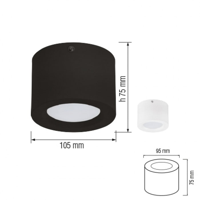 Даунлайты - Светодиодный светильник SANDRA-5 5W  белый 000001159 - Фото 2