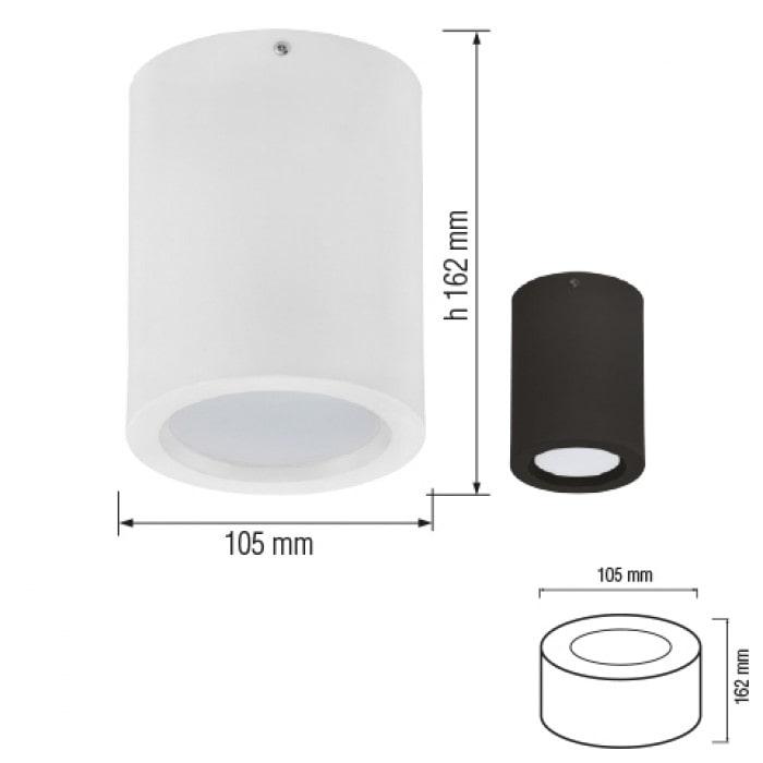 Даунлайты - Светодиодный светильник SANDRA-5/XL черный 000001166 - Фото 2