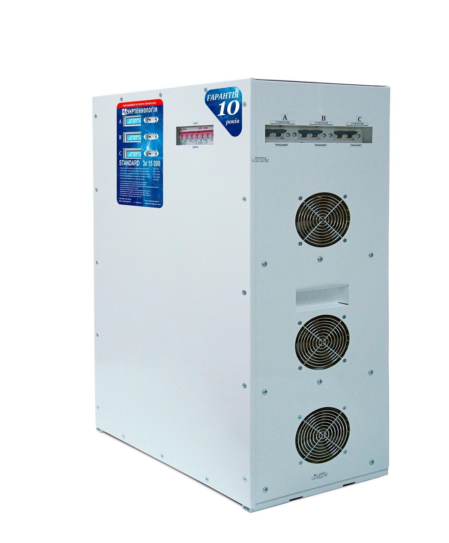 Стабилизаторы напряжения - Стабилизатор напряжения 15 кВт х 3 STANDARD 000001501 - Фото 1