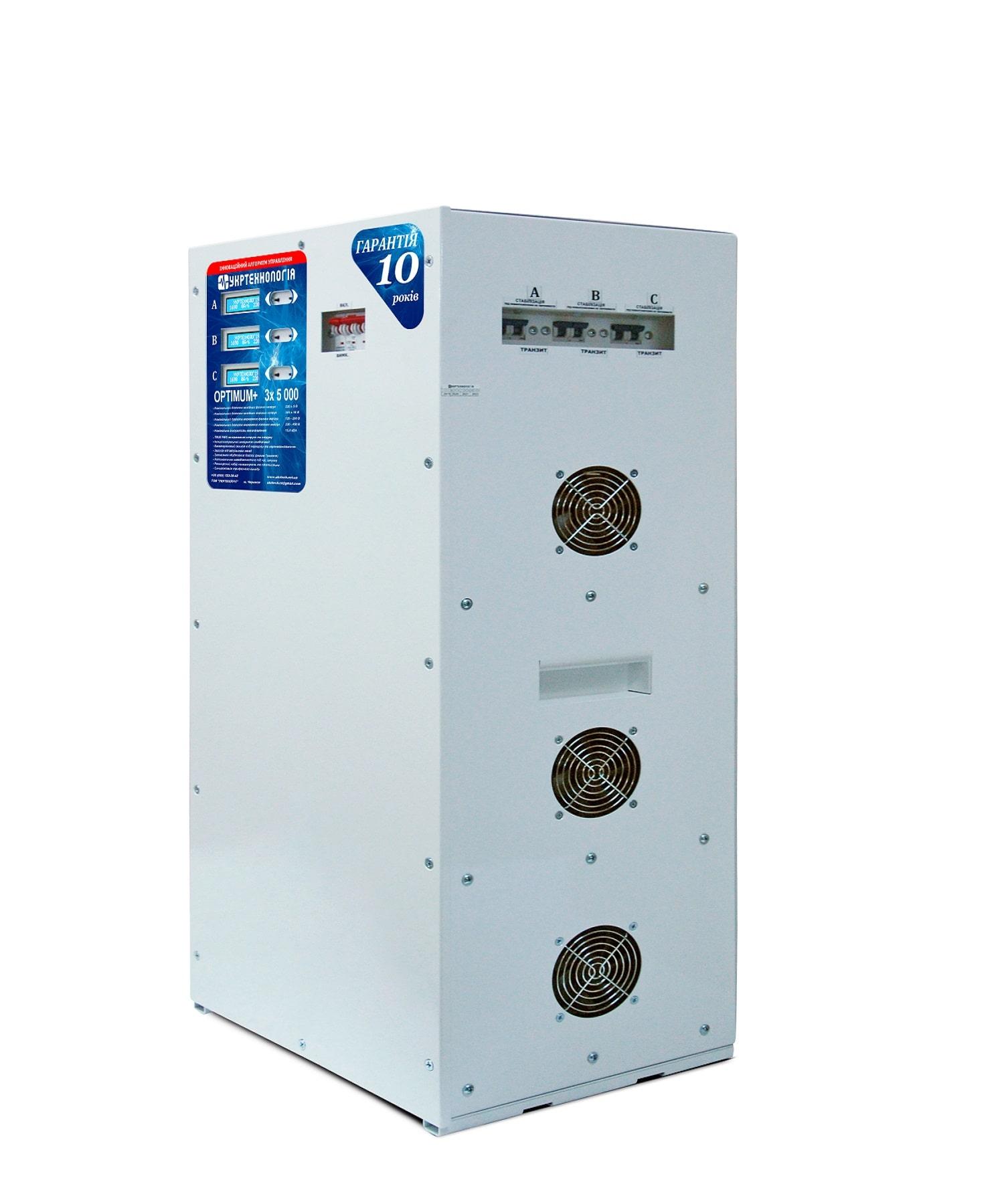 Стабилизаторы напряжения - Стабилизатор напряжения 5 кВт х 3 OPTIMUM 000001490 - Фото 1